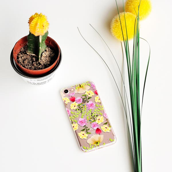 Colorful Flower Collage iPhone Case