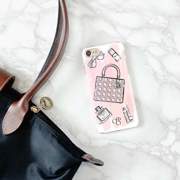 Pink Dior iPhone Case
